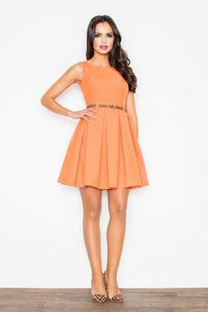 FIGL - Sukienka M083 Pomarańcz