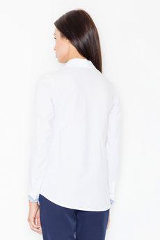 FIGL - Koszula M491 Biały-Niebieski