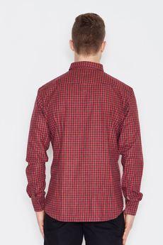 Visent - Koszula V010 Czarno-Czerwony