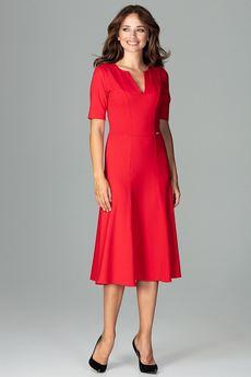 LENITIF - Sukienka K478 Czerwony