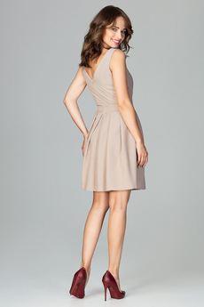 LENITIF - Sukienka K487 Beż