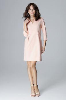 LENITIF - Sukienka L004 Róż