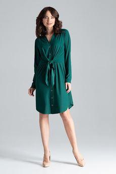 LENITIF - Sukienka L031 Zielony
