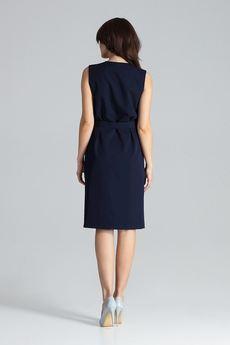 LENITIF - Sukienka L037 Granat