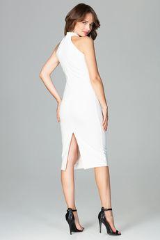 LENITIF - Sukienka K492 Ecru