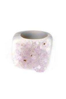 Brazi Druse Jewelry - InspiRING Ametyst rozmiar 12