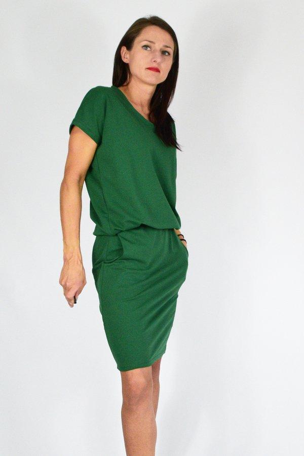 36 50 _ Miriam _ Sukienka Dresowa Zielony | Collibri