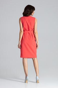 LENITIF - Sukienka L037 Koral
