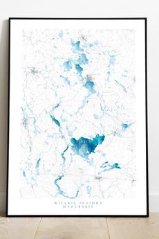 maps by P - Mazury
