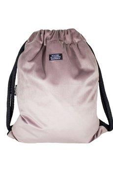 sacky.bag - Plecak welur pudrowy róż