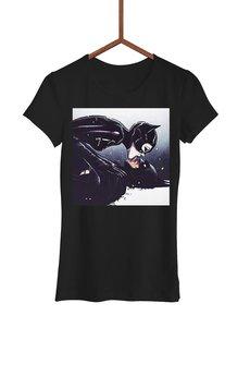 FailFake - Koszulka Całujący się Batman i Catwomen Damska