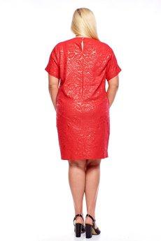 Bird - sukienka z ozdobną broszką i kieszeniami