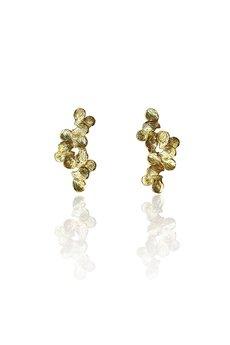 DOROTA KOS jewellery - Złote kolczyki z płatków- Jabłonka