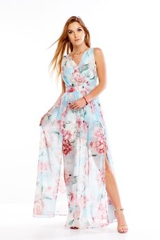 Bird - Sukienka maxi w kwiatowy wzór