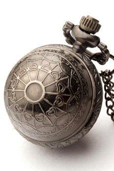 Drobiny Czasu - KULECZKA II (BLACK) zegarek wisiorek na łańcuszku
