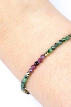 Brazi Druse Jewelry - Bransoletka Zoizyt i Hematyt złoto