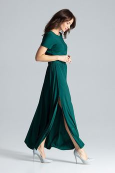 LENITIF - Sukienka042 Zielony