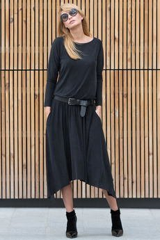 Candy Floss - Sukienka Maxi Asymetric Black Rock