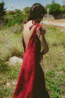 NALU BODYWEAR - Lniana sukienka Paloma