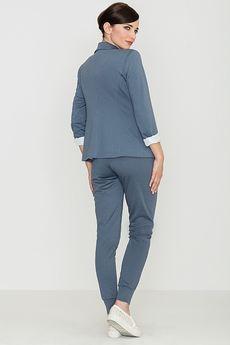 LENITIF - Spodnie K153 Niebieski
