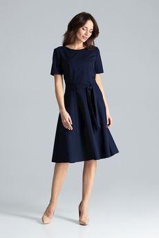 LENITIF - Sukienka L043 Granat