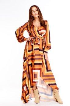Bird - Kopertowa sukienka maxi