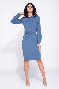 Bien Fashion - Sukienka dzienna z kołnierzykiem
