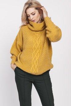 MKM swetry - Obszerny golf, SWE137 żółty MKM