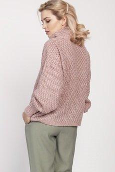 MKM swetry - Obszerny golf, SWE137 różowy MKM