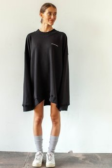 WARSAW SAINTS - Oversized crewneck Basic Black