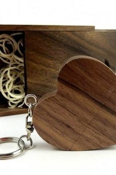 Drobiny Czasu - Pendrive SteamMEMORY of Wood - HEART (dark)