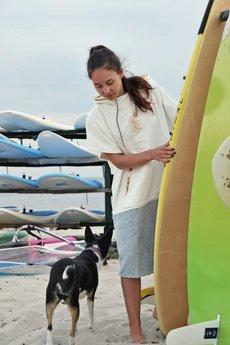 VADA - bawełniane ponczo surf PALOMA