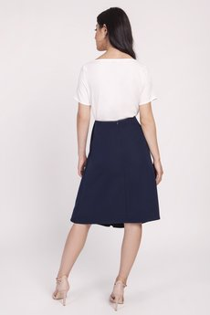 Lanti - Elegancka spódnica z efektownym wiązaniem, SP123