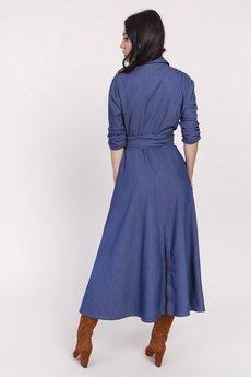 Lanti - Sukienka maxi kopertowa podkreślająca talię.