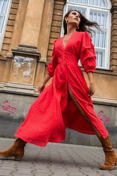 my image art - Meetme ażurowa sukienka bawełniana
