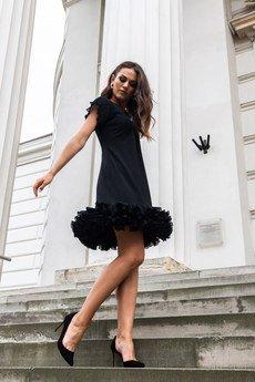 my image art - Mistic sukienka mini z warstwową falbaną