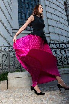 my image art - Magnum - komplet z baskinką i plisowaną spódnicą