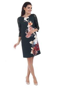 Bird - sukienka z koronkowymi rękawami