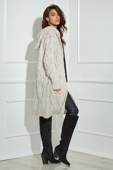 Ooh la la - Długi sweter Ooh la la z kapturem