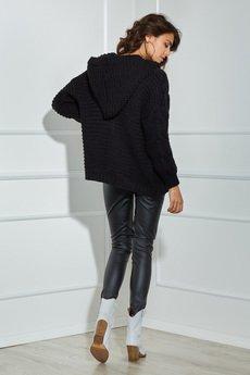 Ooh la la - Sweter SKY z kapturem w czarnym odcieniu