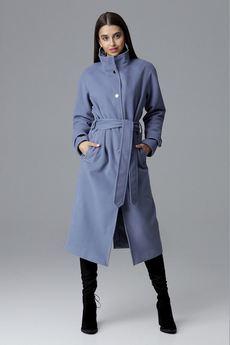 FIGL - Płaszcz624 Niebieski