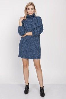 MKM swetry - Dzianinowa sukienka, SWE193 MKM