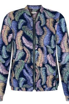 ekoszale - damska bluza bomberka, dzianinowa kurtka
