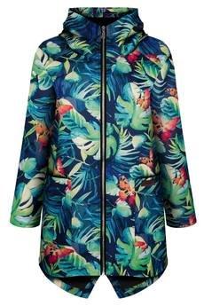 ekoszale - jesienna kurtka damska, parka ocieplona bawełną