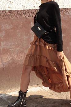 Elevenstory - Spódnica długa asymetryczna Anette