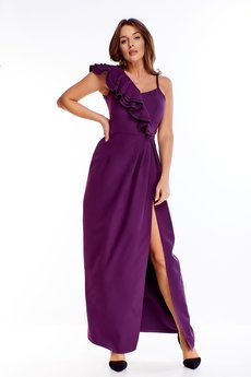 Bird - sukienka maxi z falbaną