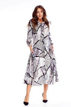 Bird - sukienka o kroju szmizjerki z rozkloszowanym dołem