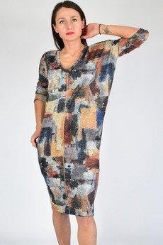 collibri - WIKI - sukienka tuba dresowa dzianina