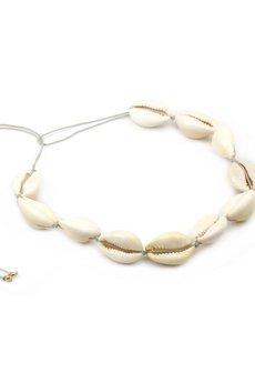 Brazi Druse Jewelry - Naszyjnik Choker Muszelka sznurek
