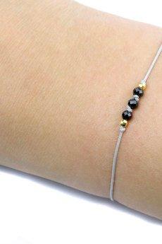 Brazi Druse Jewelry - Bransoletka Spinel Sznurek złoto